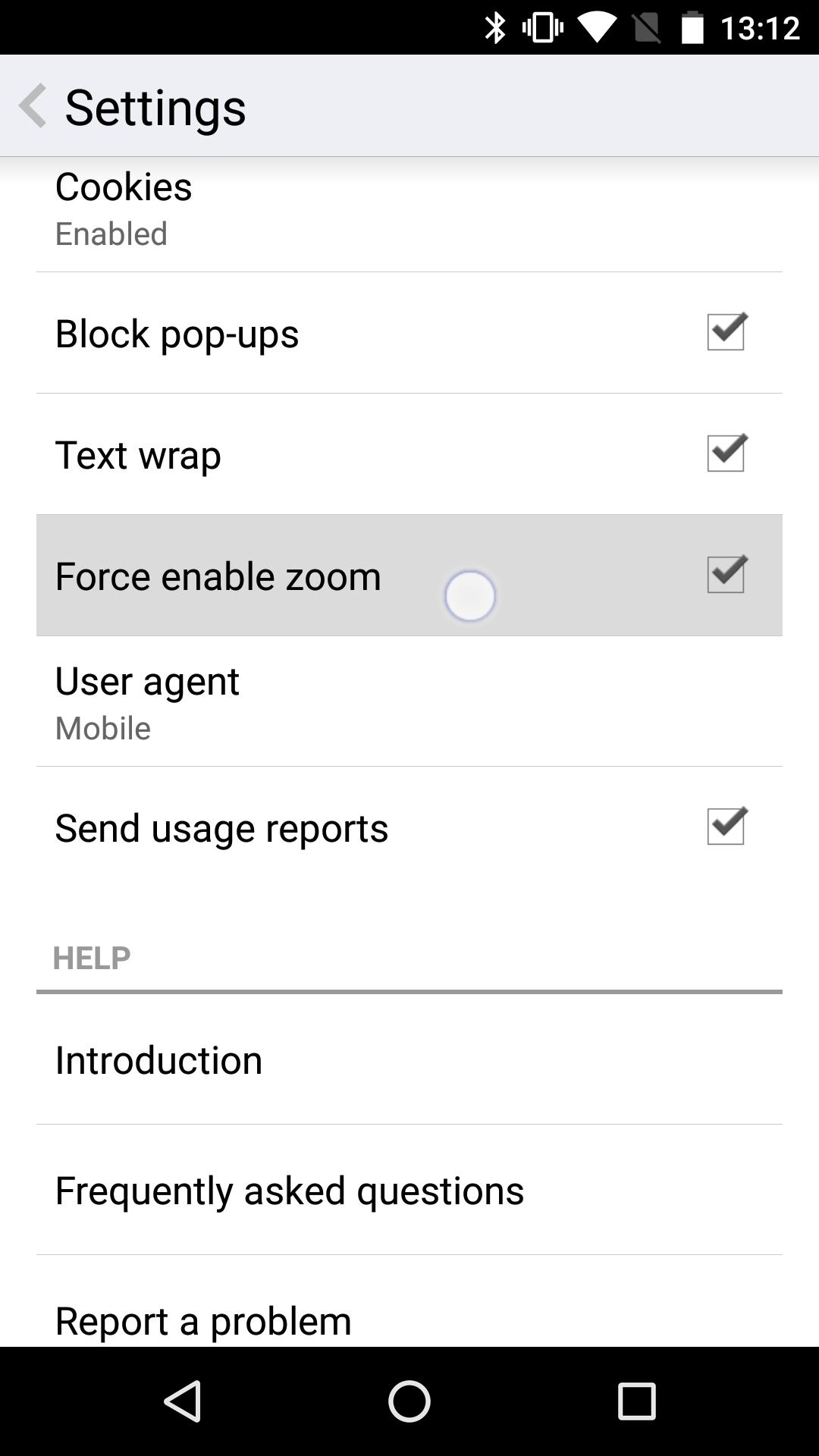 Opera Force Enable Zoom